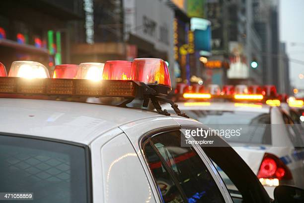 Flashing Lights On Police Car