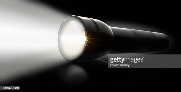 Flashlight on a black background