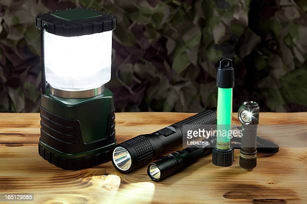 Flashlights and lantern