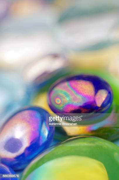 Flat Glass Marbles, Extreme Close-up