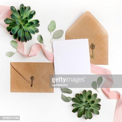 Wohnung Lag Schuss Der Brief Und Eco Papierumschlag Auf Weissem
