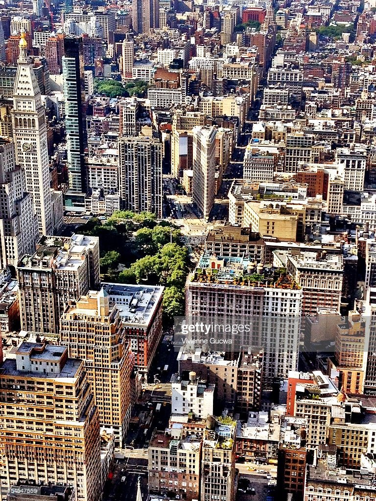 Flatiron Building and New York City Skyline : Stock Photo