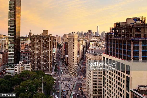 Flatiron Building and New York Skyline