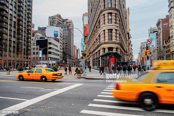 Flatiron building crosswalk. New York