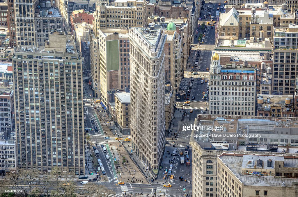 Flatiron building from top of Empire state
