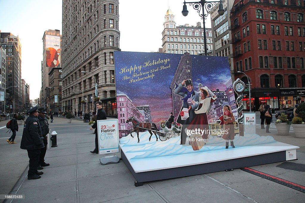 Flatiron holiday display on December 19, 2012 in New York City.