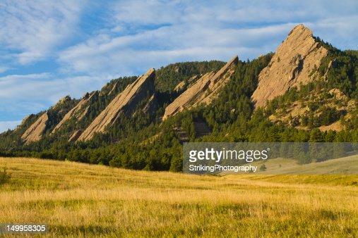 Flatiron Morning Light Boulder Colorado : Stock Photo