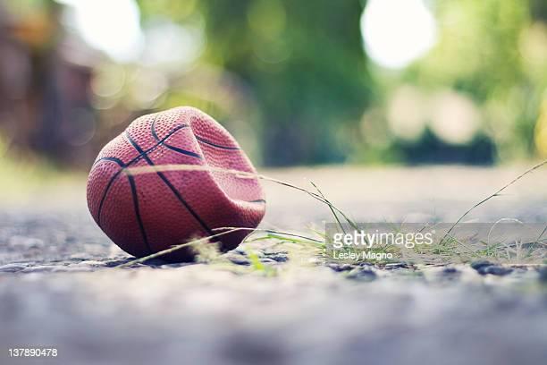 Flattened ball on street