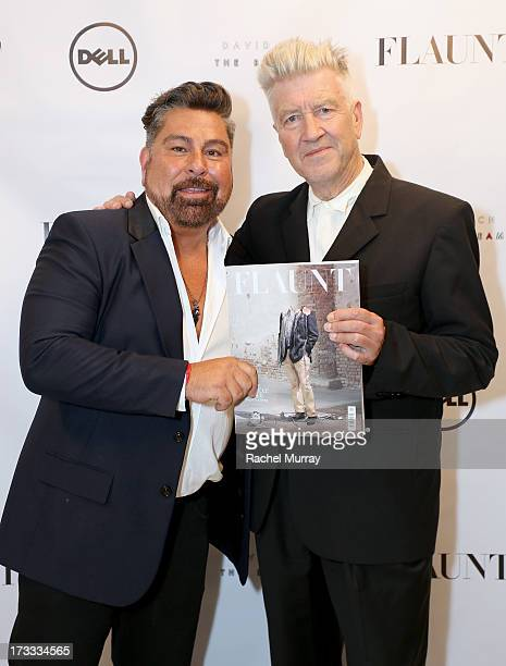 Flaunt Magazine Editor In Chief Luis Barajas and David Lynch attend Flaunt Magazine and David Lynch celebrate the Shared Releases Of Context Issue...