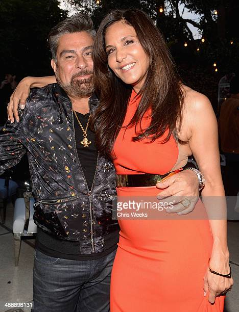 Flaunt Magazine Editor In Chief Luis Barajas and owner/designer of Chrome Hearts Laurie Lynn Stark attend Chrome Hearts Kate Hudson Host Garden Party...