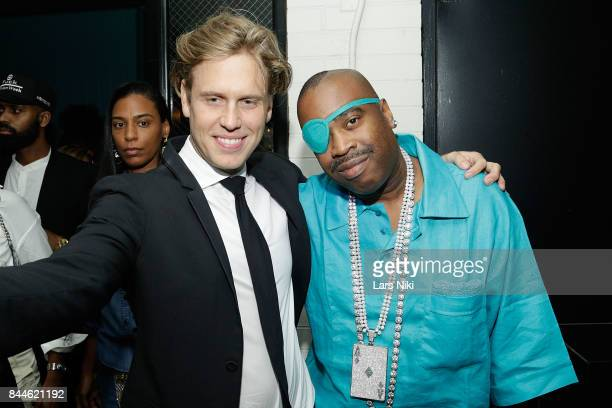 Flaunt Magazine Editor in Chief Matthew Bedard and rapper Slick Rick attend the Flaunt and Reebok 'The Eternal Issue' celebration hosted by Future at...