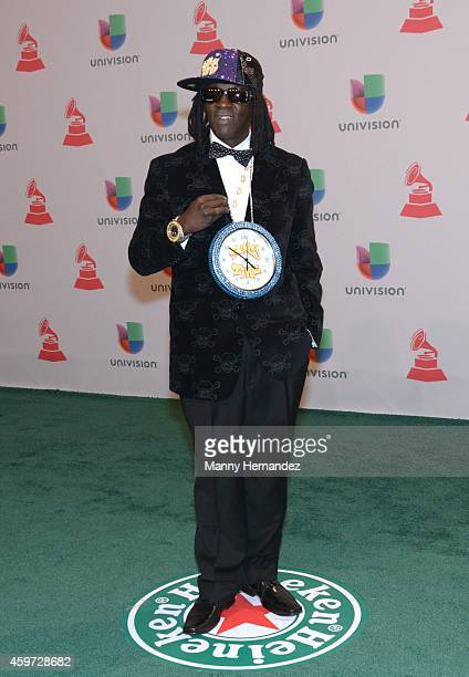 Flava Flav arrive at the 15th Annual Latin Grammy Awards on November 20 2014 in Las Vegas Nevada