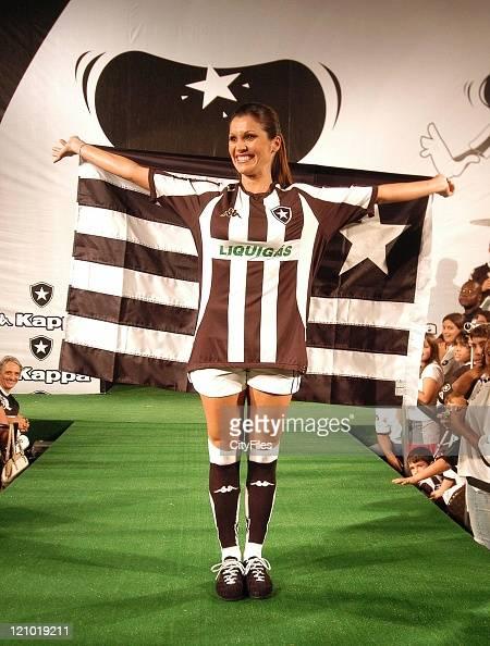 Flavia Alessandra during Flavia Alessandra Presents New Botafogo Uniform May 20 2007 in RIO DE JANEIRO Brazil