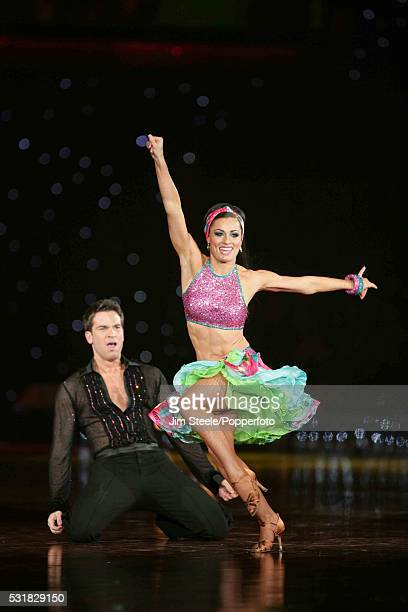 Flavia Cacace and Gethin Jones performing on stage during the Strictly Come Dancing Live event at Wembley Arena in London on the 3rd February 2009