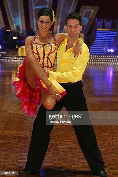 Flavia Cacace and her dance partner Gethin Jones pose during the BBC Strictly Come Dancing Live Tour 2009 photocall at the Manchester Evening News...