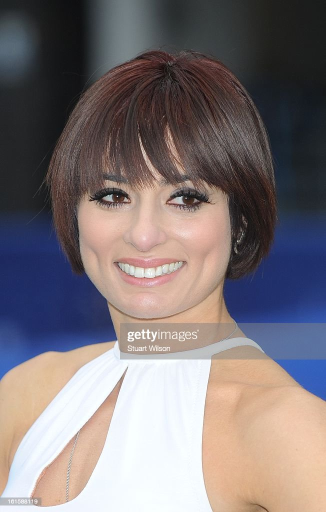 Flavia Cacace attends a photocall to launch the National Touch Rugby Campaign at Ely's Yard on February 12, 2013 in London, England.