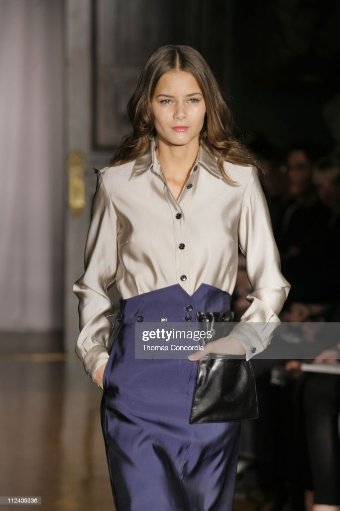 Flavia de Oliveira wearing Ruffian Fall 2007 during Mercedes-Benz Fashion Week Fall 2007 - Ruffian - Runway at National Arts Club in New York City, New York, United States.