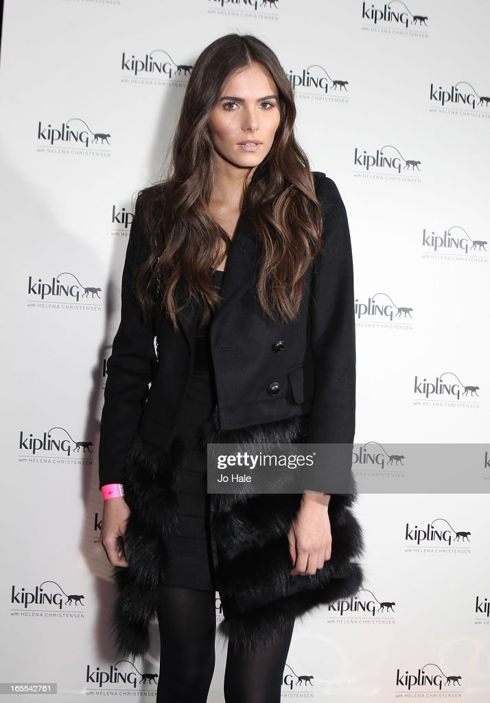 Flavia Martins attends the launch of new hangbag collection 'Kipling x Helena Christensen' at Beach Blanket Babylon on April 4, 2013 in London, England.