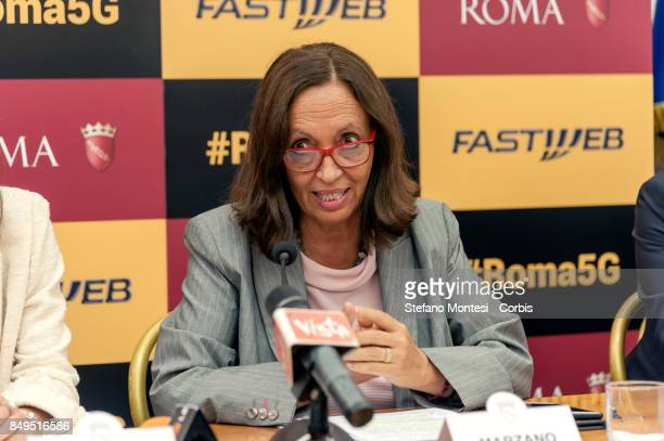 Flavia Marzano Councillor in Rome Simple during the press conference for the launch of the 5G and Wi Fi services experimentation of Fastweb leader in...