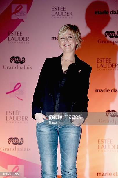 Flavie Flament attends 'Pink Ribbon' Event Against Breast Cancer at Grand Palais on October 29 2011 in Paris France