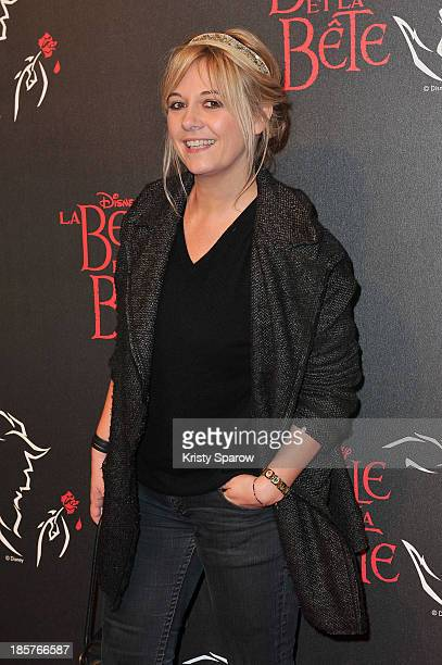 Flavie Flament attends the 'Beauty and the Beast' Paris Premiere at Theatre Mogador on October 24 2013 in Paris France