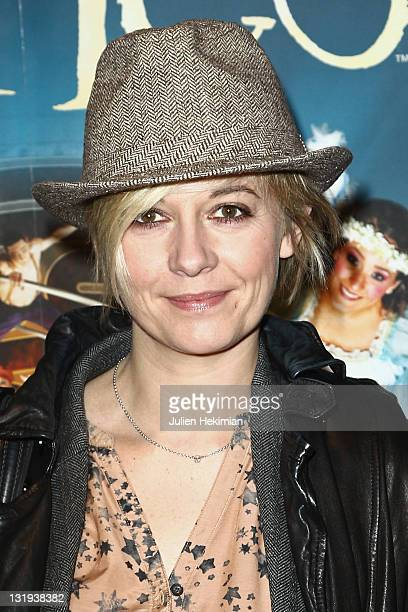 Flavie Flament attends the Cirque Du Soleil 'Corteo' Premiere Photocall at Cirque en Chantier Ile Seguin on November 8 2011 in BoulogneBillancourt...