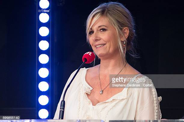 Flavie Flament attends the RTL Press Conference at Elysees Biarritz Cinema on September 7 2016 in Paris France