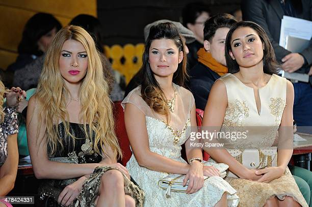 Flavie Pean and Josephine Jobert attend the Christophe Guillarme show as part of Paris Fashion Week Womenswear Fall/Winter 20142015 on February 26...