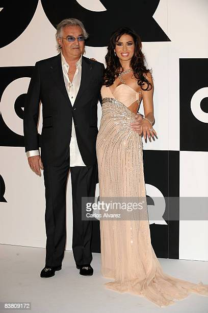 Flavio Briatore and Elisabetta Gregoraci attend 2008 GQ Magazine Men Of The Year Awards at Palace Hotel on November 24 2008 in Madrid Spain