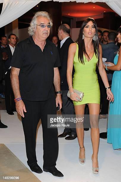 Flavio Briatore and Elisabetta Gregoraci attend the Billionaire Club Season Opening on May 25 2012 in Monaco Monaco