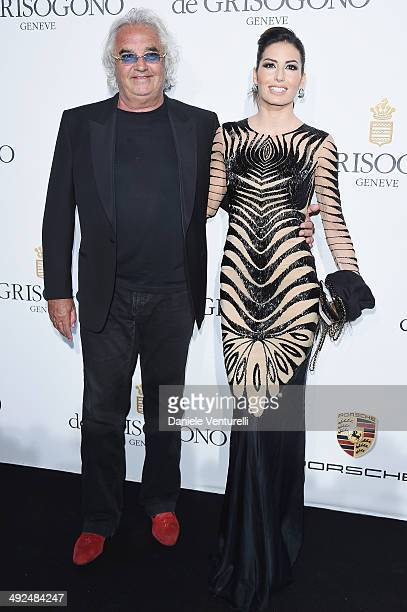 Flavio Briatore and Elisabetta Gregoraci attend the De Grisogono Party at the 67th Annual Cannes Film Festival on May 20 2014 in Cap d'Antibes France