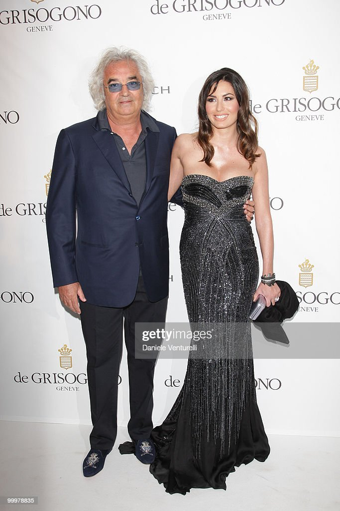 <a gi-track='captionPersonalityLinkClicked' href=/galleries/search?phrase=Flavio+Briatore&family=editorial&specificpeople=220211 ng-click='$event.stopPropagation()'>Flavio Briatore</a> (L) and <a gi-track='captionPersonalityLinkClicked' href=/galleries/search?phrase=Elisabetta+Gregoraci&family=editorial&specificpeople=606805 ng-click='$event.stopPropagation()'>Elisabetta Gregoraci</a> attend the de Grisogono party at the Hotel Du Cap on May 18, 2010 in Cap D'Antibes, France.