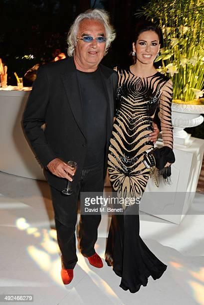 Flavio Briatore and Elisabetta Gregoraci attend the de Grisogono 'Fatale In Cannes' party during the 67th Cannes Film Festival at Hotel du CapEdenRoc...