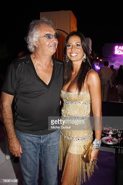 Flavio Briatore and Elisabetta Gregoraci attend the Fawaz Gruosi birthday party at the Billionaire on August 8 2007 in Porto Cervo Italy