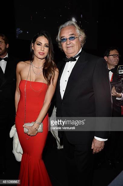 Flavio Briatore and Elisabetta Gregoraci attend The Pirelli Calendar 50th Anniversary Dinner on November 21 2013 in Milan Italy