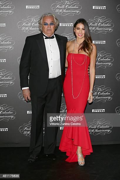 Flavio Briatore and Elisabetta Gregoraci attend the Pirelli Calendar 50th Anniversary event on November 21 2013 in Milan Italy