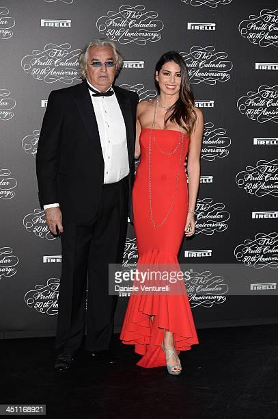 Flavio Briatore and Elisabetta Gregoraci attends the Pirelli Calendar 50th Anniversary Red Carpet on November 21 2013 in Milan Italy