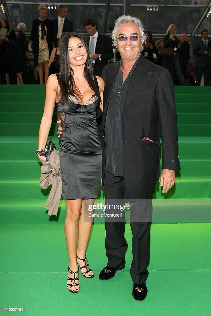 <a gi-track='captionPersonalityLinkClicked' href=/galleries/search?phrase=Flavio+Briatore&family=editorial&specificpeople=220211 ng-click='$event.stopPropagation()'>Flavio Briatore</a> and Elisabetta Gregoraci during United Colors of Benetton 40th Anniversary Fashion Show at Centre Pompidou in Paris, France.