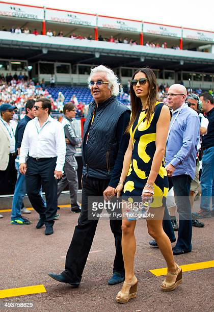 Flavio Briatore and his wife Elisabetta Gregoraci are seen ahead of the Monaco Formula One Grand Prix at Circuit de Monaco on May 25 2014 in...