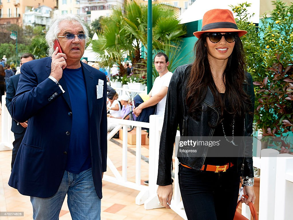 <a gi-track='captionPersonalityLinkClicked' href=/galleries/search?phrase=Flavio+Briatore&family=editorial&specificpeople=220211 ng-click='$event.stopPropagation()'>Flavio Briatore</a> and his wife <a gi-track='captionPersonalityLinkClicked' href=/galleries/search?phrase=Elisabetta+Gregoraci&family=editorial&specificpeople=606805 ng-click='$event.stopPropagation()'>Elisabetta Gregoraci</a> attend the ATP Masters Series Rolex at Monte-Carlo Sporting Club on April 18, 2015 in Monte-Carlo, Monaco. on April 18, 2015 in Monte-Carlo, Monaco.