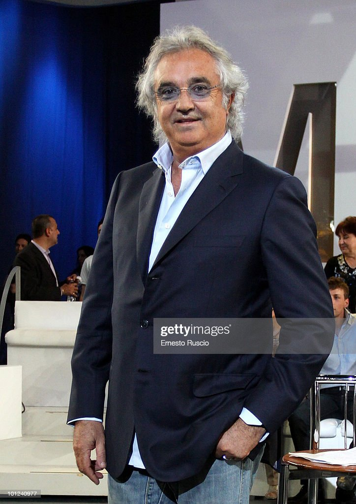 <a gi-track='captionPersonalityLinkClicked' href=/galleries/search?phrase=Flavio+Briatore&family=editorial&specificpeople=220211 ng-click='$event.stopPropagation()'>Flavio Briatore</a> attends the Italian TV show Matrix on May 28, 2010 in Rome, Italy.