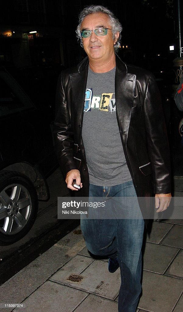 Flavio Briatore during Celebrity Arrivals at Cipriani Restaurant in London December 3 2005 at Cipriani in London Great Britain