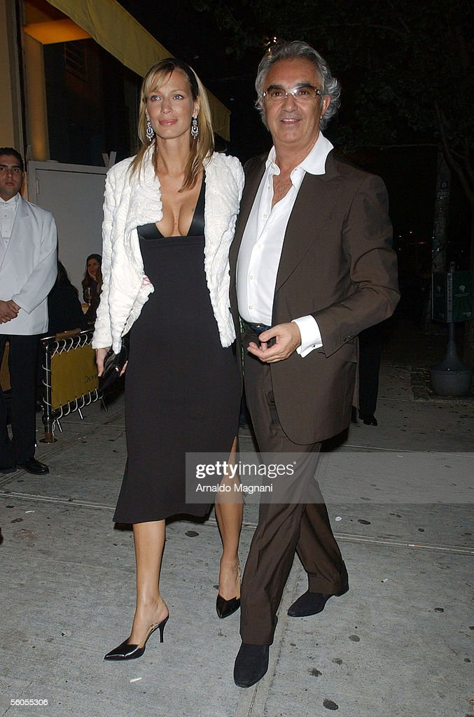 Flavio Briatore leaves Cipriani's restaurant with a female companion November 1 2005 in downtown New York City