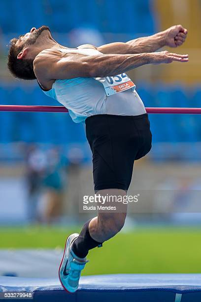 Flavio Reitz competes the Men's High Jump T42 Final during the Paralympics Athletics Grand Prix Aquece Rio Test Event for the Rio 2016 Olympics Day 4...