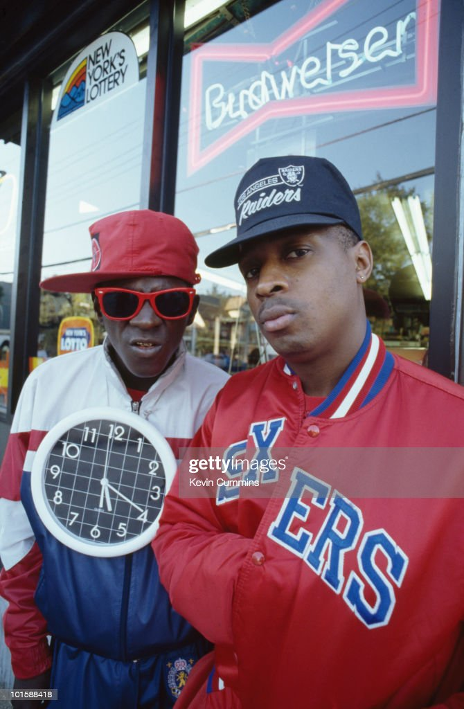 <a gi-track='captionPersonalityLinkClicked' href=/galleries/search?phrase=Flavor+Flav&family=editorial&specificpeople=171122 ng-click='$event.stopPropagation()'>Flavor Flav</a> and <a gi-track='captionPersonalityLinkClicked' href=/galleries/search?phrase=Chuck+D&family=editorial&specificpeople=212935 ng-click='$event.stopPropagation()'>Chuck D</a> of hip hop group Public Enemy in New York City on September 14, 1988.