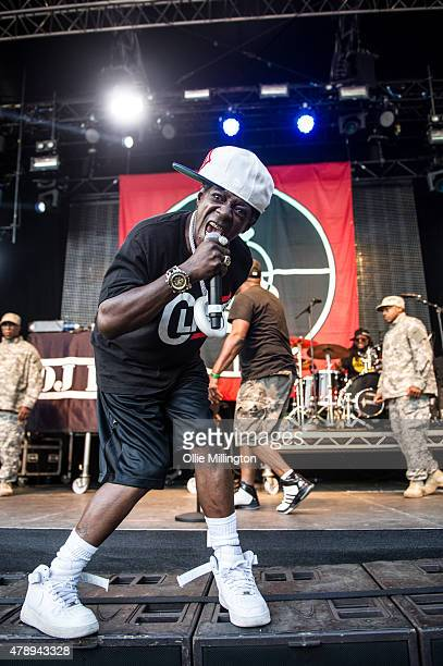 Flavor Flav of Public Enemy perfoms onstage during day one of Wireless Festival Finsbury Park on June 28 2015 in London England