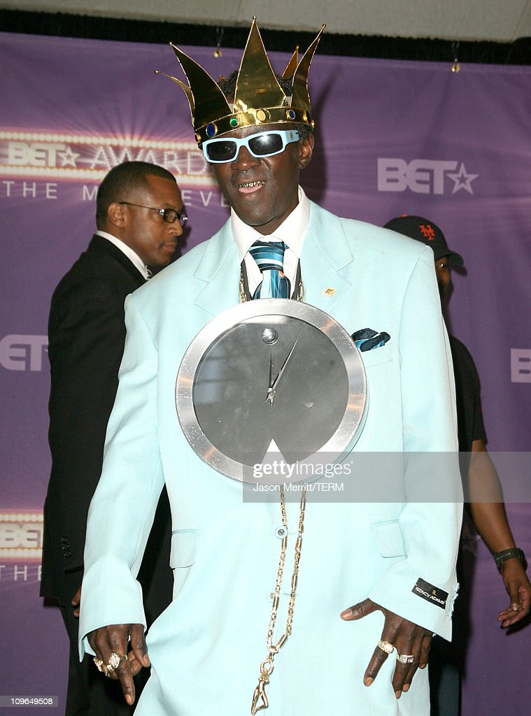 Flavor Flav of Public Enemy, performer during BET Awards 2007 - Press Room at Shrine Auditorium in Los Angeles, California, United States.