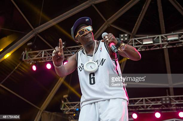 Flavor Flav of Public Enemy performs at FIB Benicassim Festival on July 19 2015 in Benicassim Spain