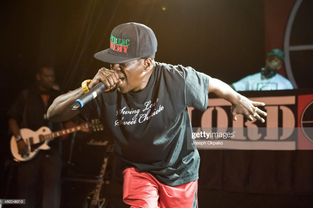 <a gi-track='captionPersonalityLinkClicked' href=/galleries/search?phrase=Flavor+Flav&family=editorial&specificpeople=171122 ng-click='$event.stopPropagation()'>Flavor Flav</a> of Public Enemy performs on stage at Electric Brixton on June 7, 2014 in London, United Kingdom.