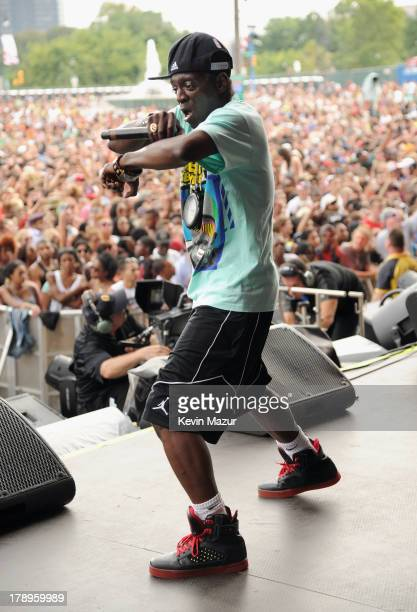 Flavor Flav performs during the 2013 Budweiser Made In America Festival at Benjamin Franklin Parkway on August 31 2013 in Philadelphia Pennsylvania